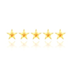 five gold star vector image