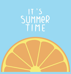 its summer time orange blue background ima vector image vector image