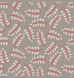 Rustic fall leaves seamless pattern vector