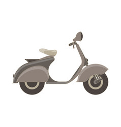 scooter flat icon isolated side view bike vehicle vector image vector image