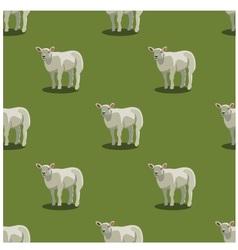Seamless pattern sheep green vector image vector image