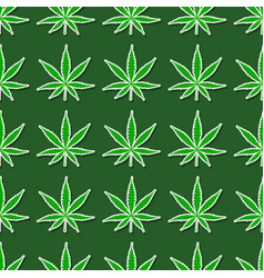 seamless pattern with cannabis leaves vector image vector image