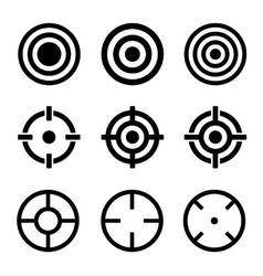 Target Icons Set on White Background vector image