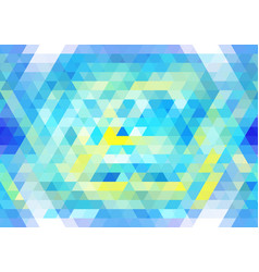 vibrant blue and yellow seamless mosaic pattern vector image vector image