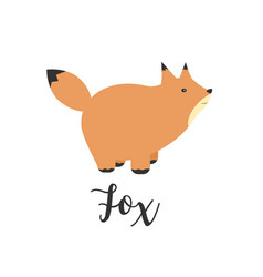 a fox greeting card with vector image