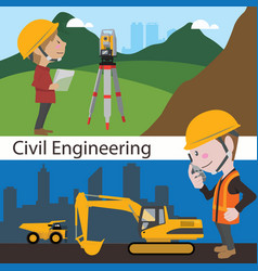 Construction civil engineering land survey vector