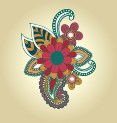 hand draw henna floral design element tattoo vector image
