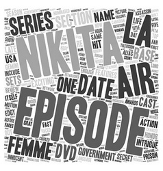 La Femme Nikita DVD Review text background vector image vector image