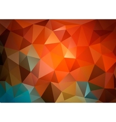 Colorful triangular background for business vector image vector image