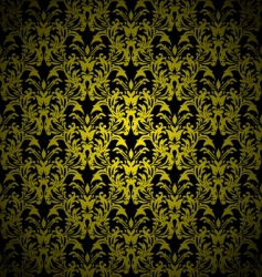 floral gothic gold vector image vector image