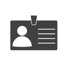 identification card icon on white background vector image vector image
