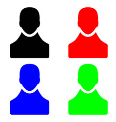 people figure icons in multiple colors vector image