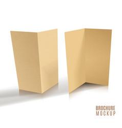 3d brochure of paper craft vector image