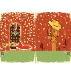 cowboy christmas vector image vector image