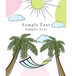 doodle card vector image