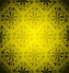 golden wallpaper repeat vector image vector image