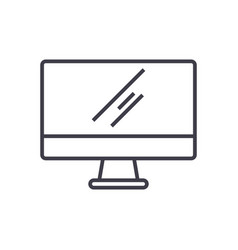 monitor line icon sign on vector image