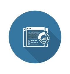 Report Icon Flat Design vector image vector image