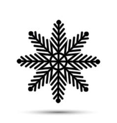 snow icon sign design vector image vector image