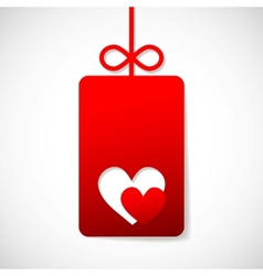valentines paper heart with a blank vector image
