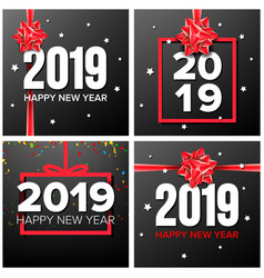 2019 happy new year background set numbers vector image
