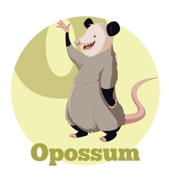 ABC Cartoon Opossum vector