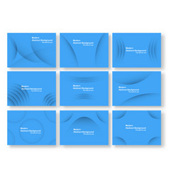 abstract blue curve background with copy space vector image