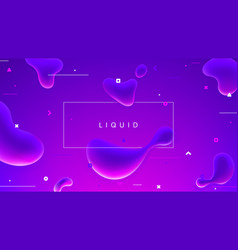abstract colorful banner with fluid shapes vector image
