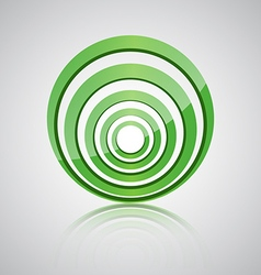 Abstract green circle icon vector image