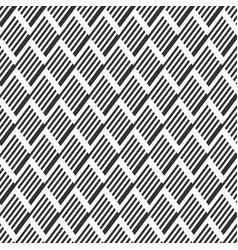 Abstract seamless pattern striped rhombuses vector