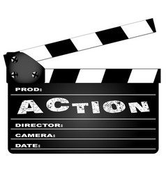 Action movie clapperboard vector