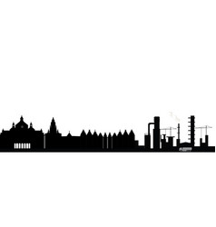 Antwerpen city skyline vector