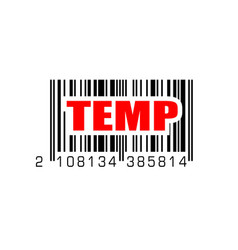 Bar code with temp temporary label vector
