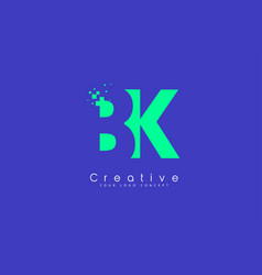 Bk letter logo design with negative space concept vector