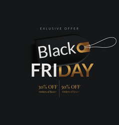 black friday sale poster commercial discount vector image