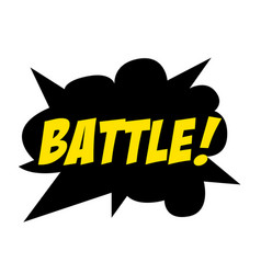Bright battle speech bubble battle colorful vector