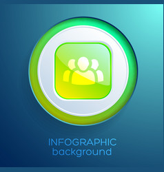business web infographic element vector image