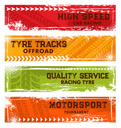car racing off road tracks and motorsport banners vector image