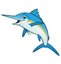 cartoon blue marlin vector image
