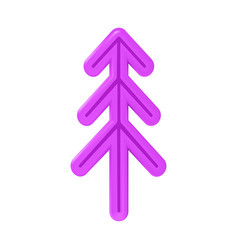 Christmas tree of pink or happy new year from vector