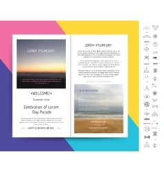 Collection of Templates vector image