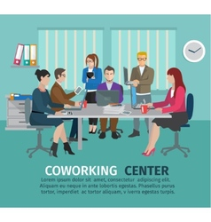 Coworking Center Concept vector
