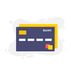 Credit card single flat icon on white background vector