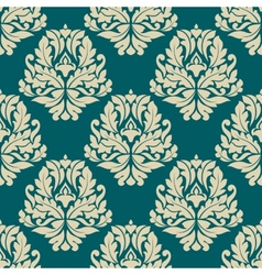 Dainty damask style seamless pattern vector image