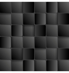 Dark tech abstract background with squares vector