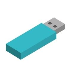 data storage isolated icon vector image