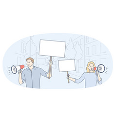 Demonstration promotion protest concept vector
