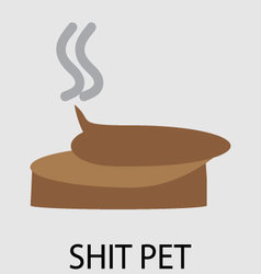 Dog shit design flat vector image
