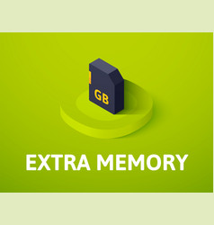 Extra memory isometric icon isolated on color vector