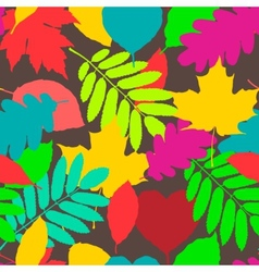 fall pattern seamless background autumnal vector image